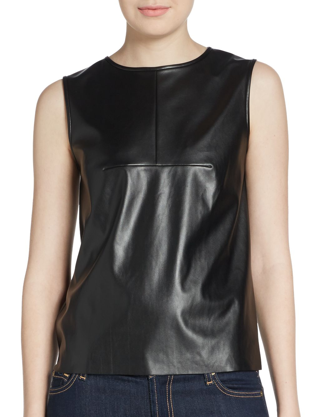 Authorized Decibel retailer. THE NEW DESIGNERS Polyurethane tank top THE NEW DESIGNERS logo on front Stretch material for ultimate comfort. Stretch fit. % polyurethane. Black