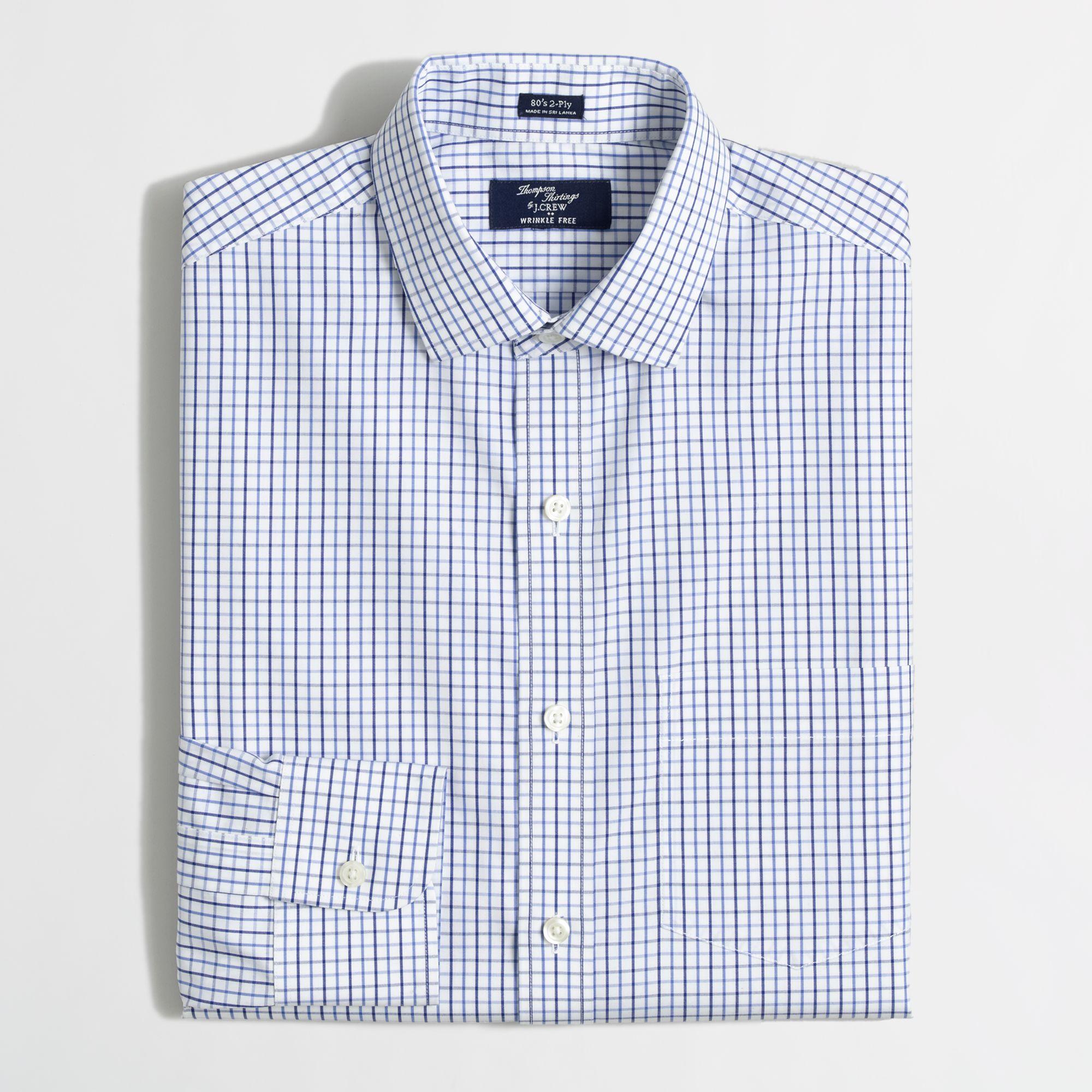 Factory slim thompson wrinklefree spreadcollar for Small collar dress shirt