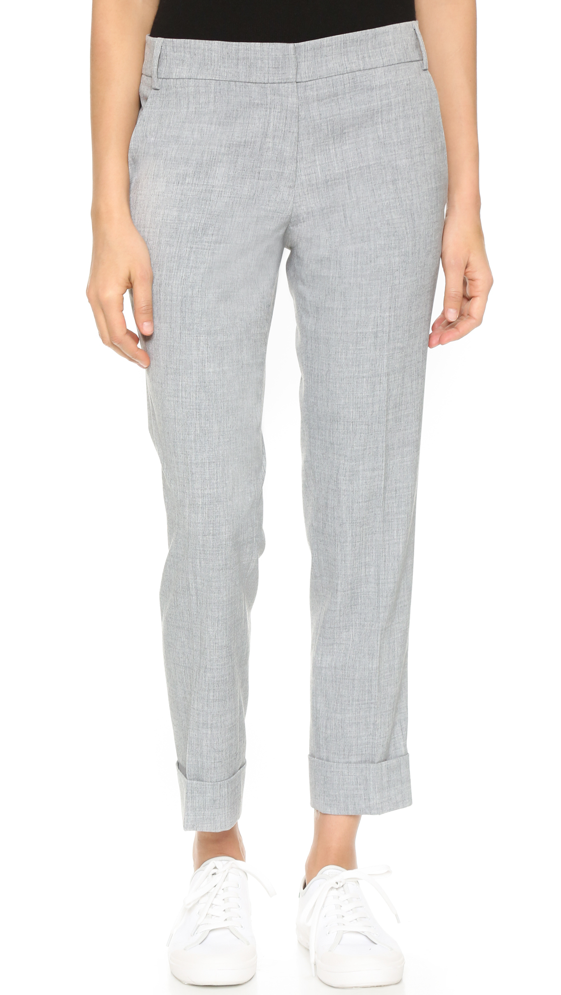 50575c416f7654 James Jeans Slouchy Cuffed Trousers in Gray - Lyst