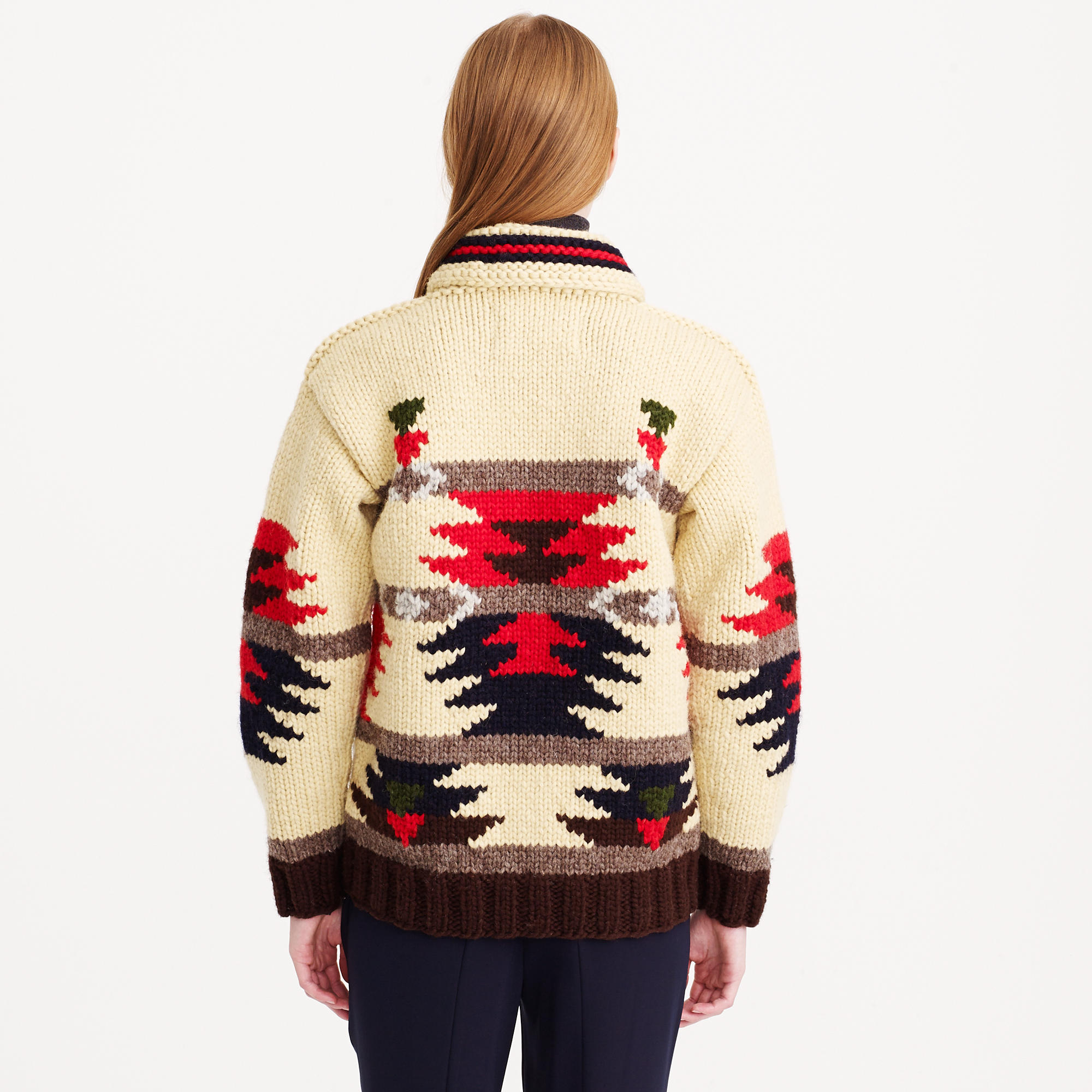 67639b24bb J.Crew Canadian Sweater Company™ Cardigan Sweater in Natural - Lyst