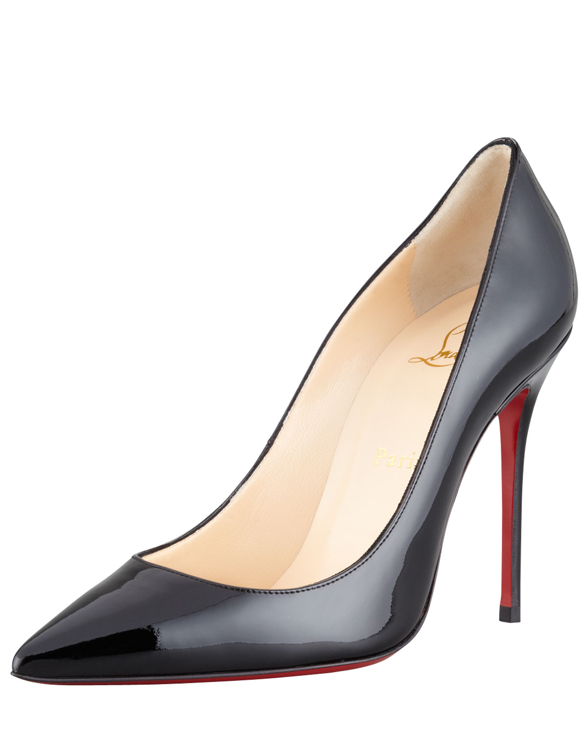 Christian louboutin Decollete Patent Leather Stiletto Red Sole ...
