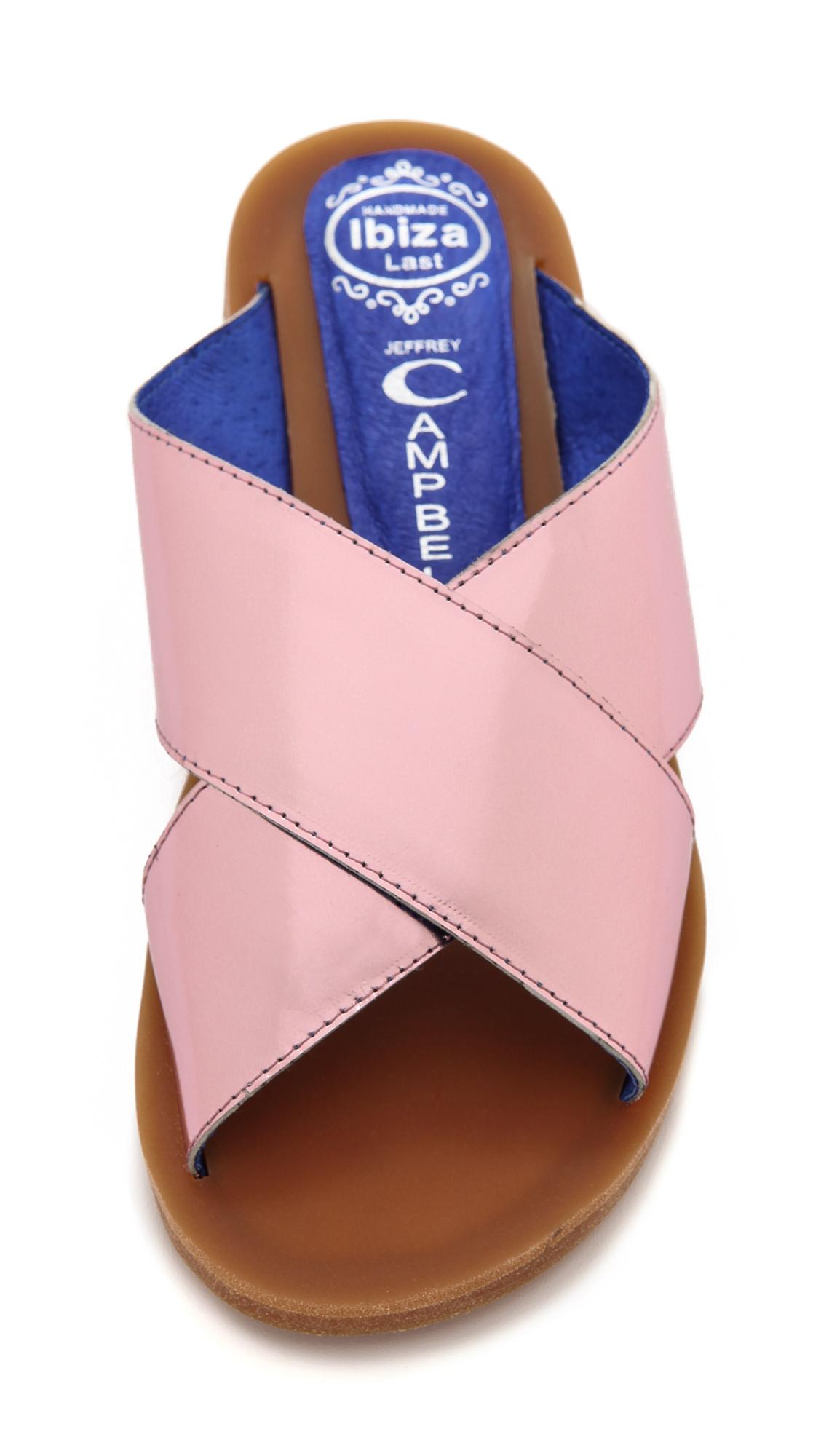 Jeffrey Campbell Caprese Crisscross Slide Sandals Rose