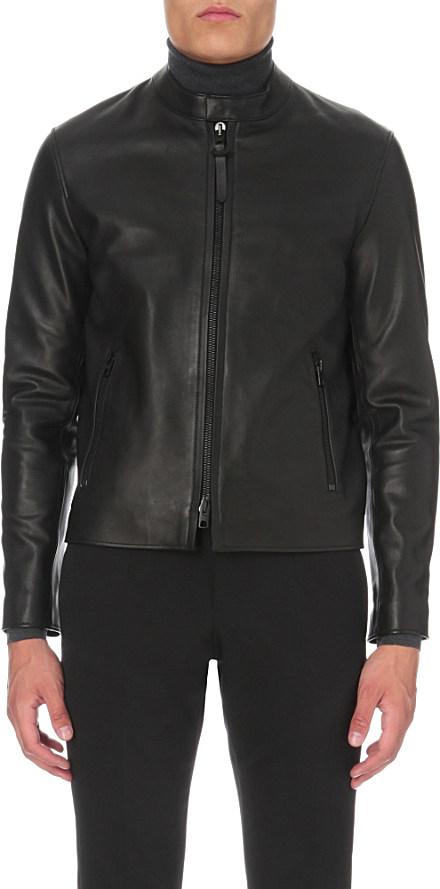 5f543f43947 ... spain coach bleecker leather jacket in black for men lyst 3ebbc 5deec