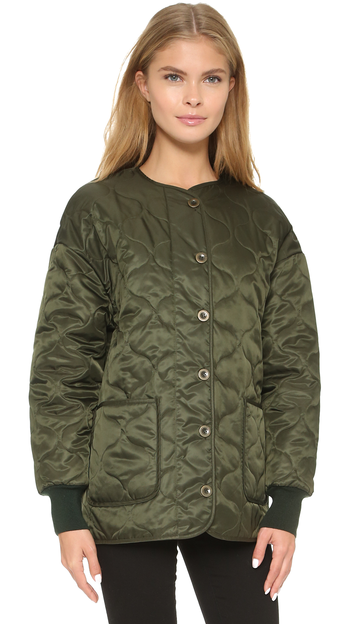 Sonia by sonia rykiel Quilted Jacket in Green | Lyst