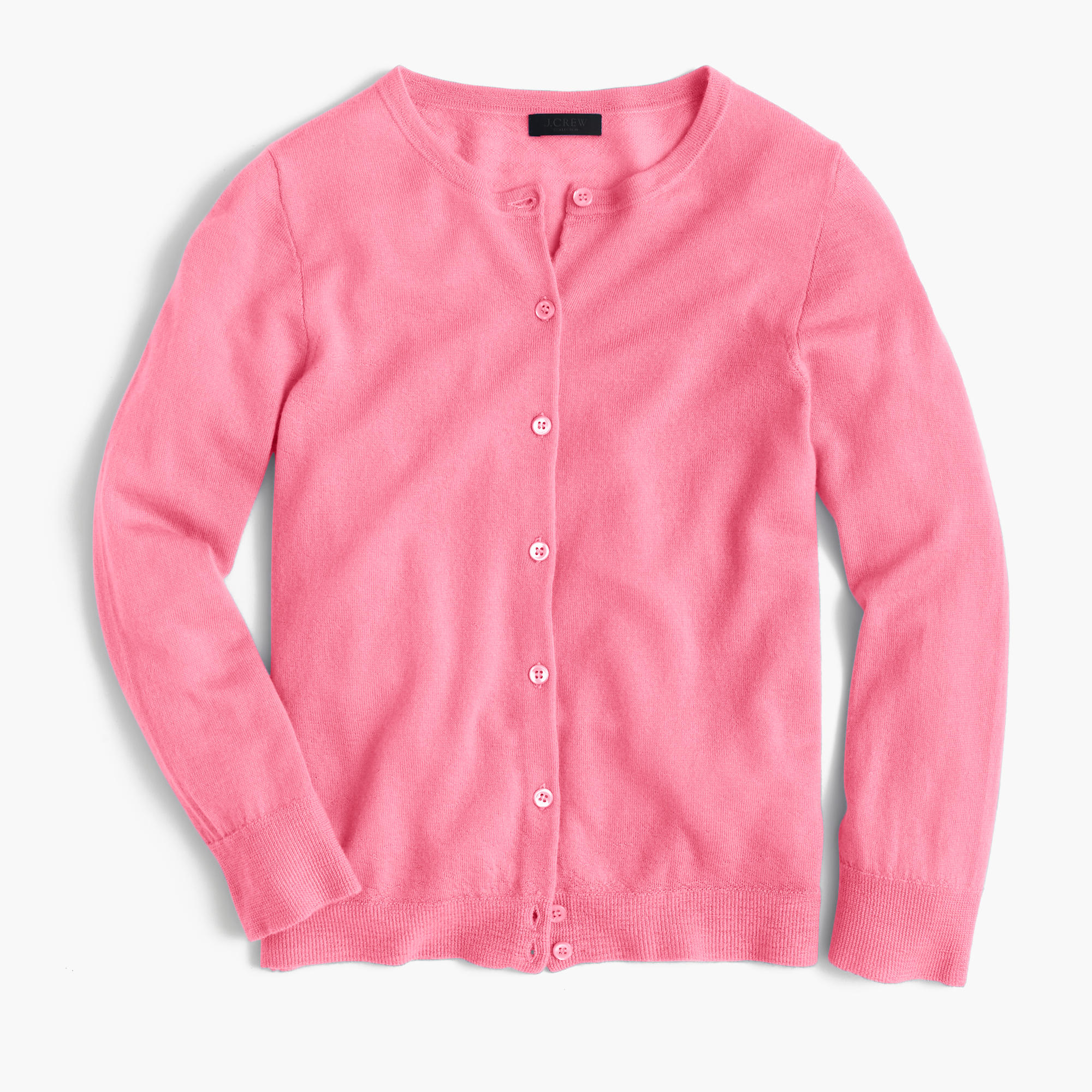 J.crew Italian Featherweight Cashmere Cardigan Sweater in Pink | Lyst