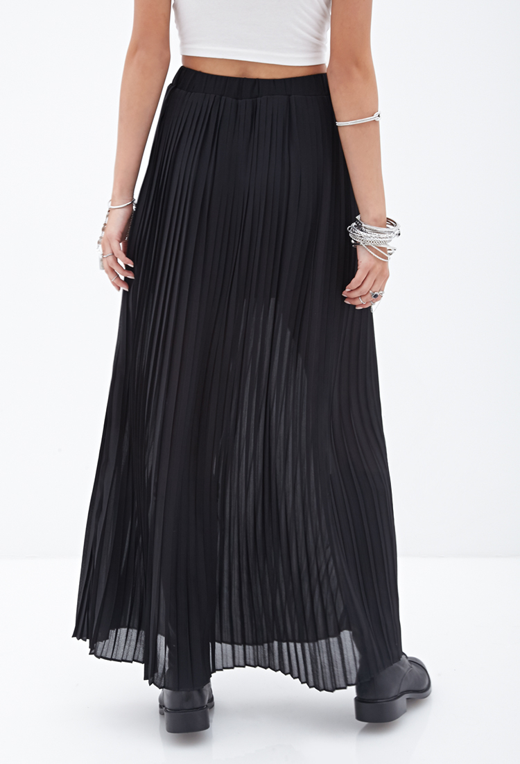 dd01b23d38c Pleated Chiffon Maxi Skirt Forever 21 - Data Dynamic AG