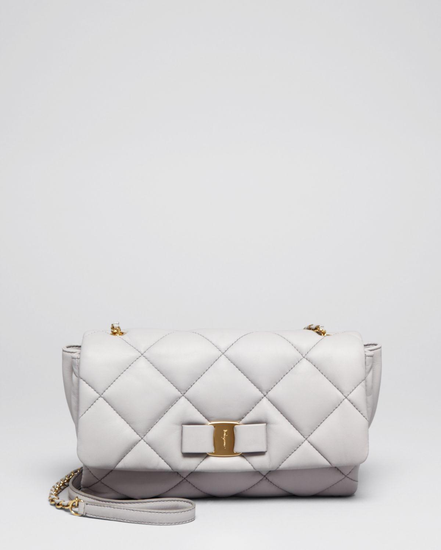4eb15620827d Lyst - Ferragamo Shoulder Bag - Gelly Quilted in Gray