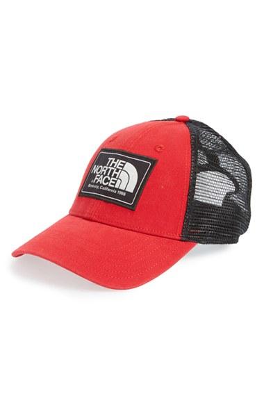 ba2b8a35f497dd The North Face 'mudder' Trucker Hat in Red - Lyst