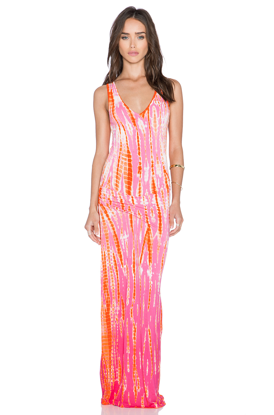 Young Fabulous Amp Broke Sienna Jersey Maxi Dress In Pink Lyst