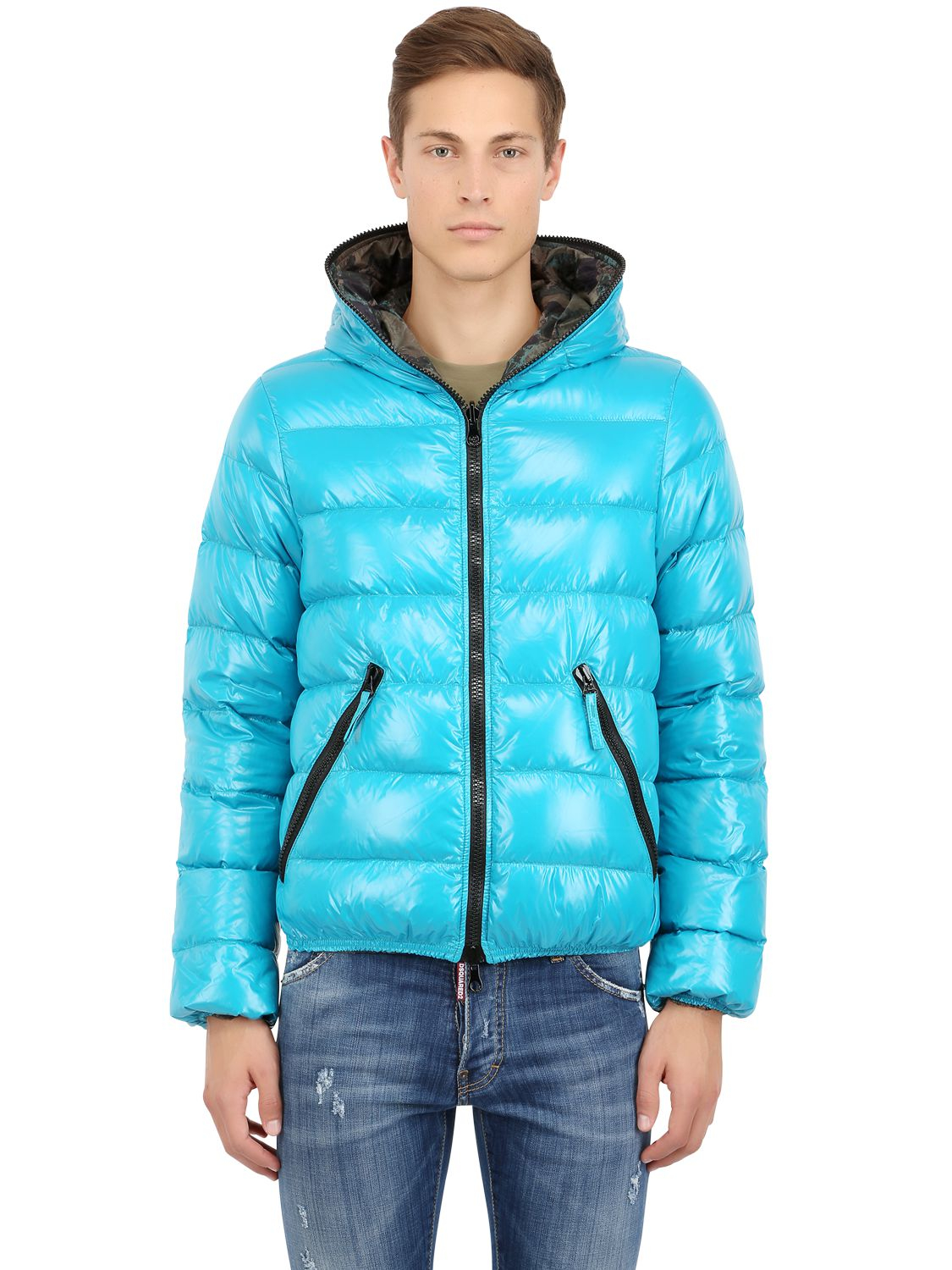 Duvetica Packable Reversible Dionisio Down Jacket in Blue for Men ...