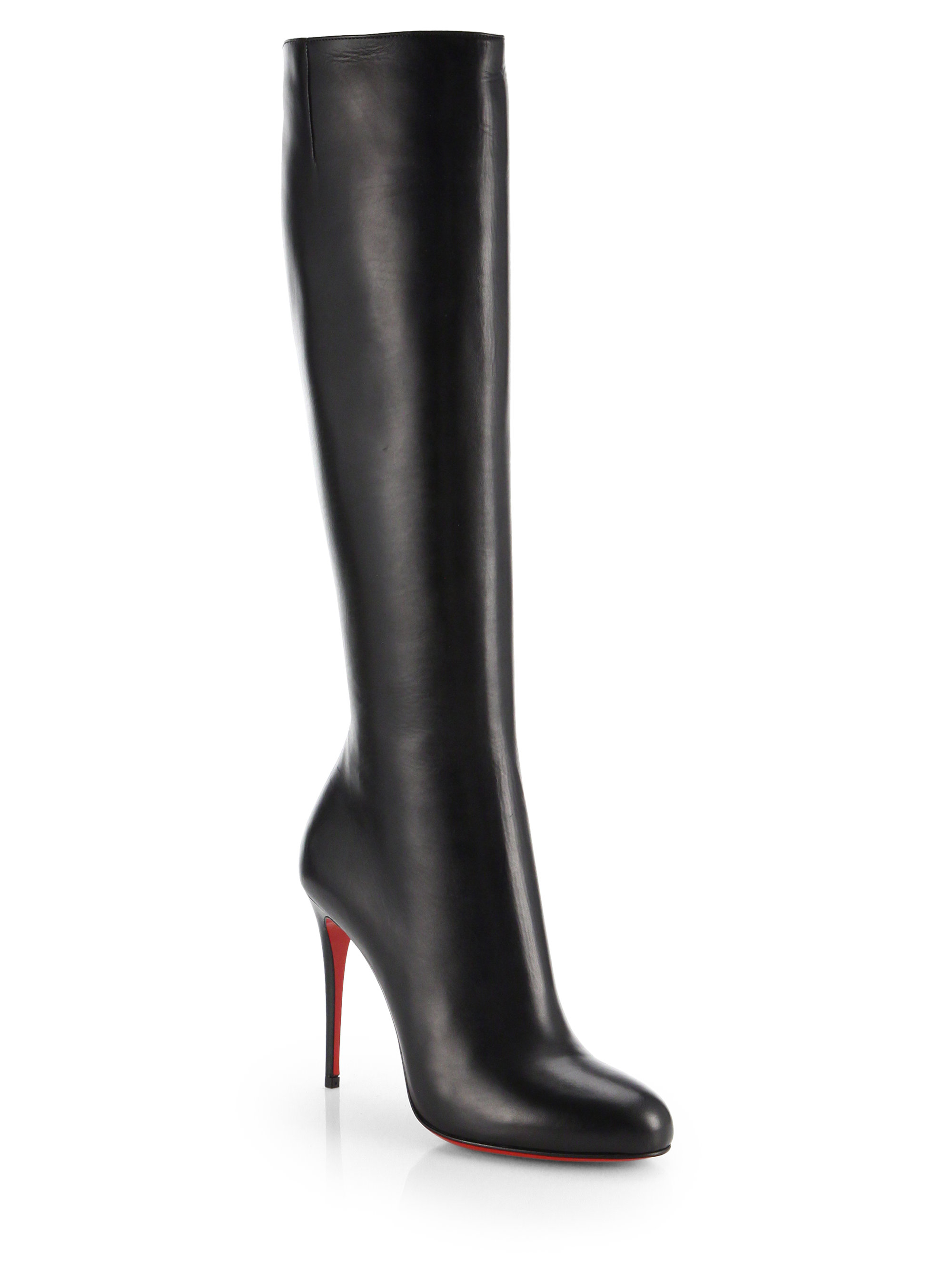8ff324800d1c7e Lyst - Christian Louboutin Fifi Botta Suede Knee-high Boots in Black