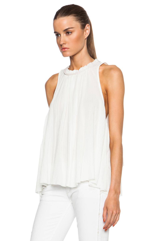 Isabel marant Good Cotton Gauze Blouse in White
