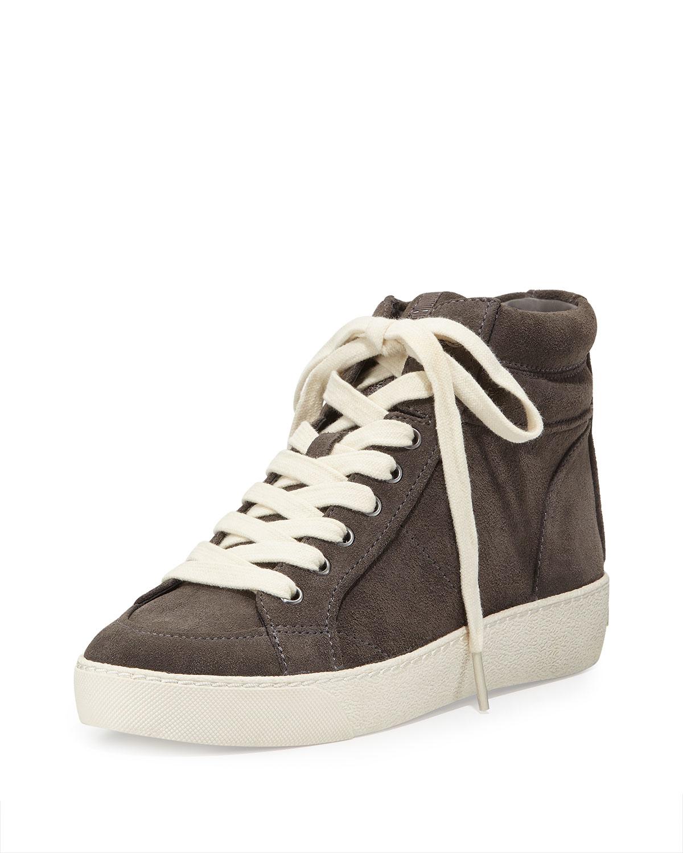 896ac65ce13d6 Lyst - Sam Edelman Britt Suede High-top Sneaker in Gray