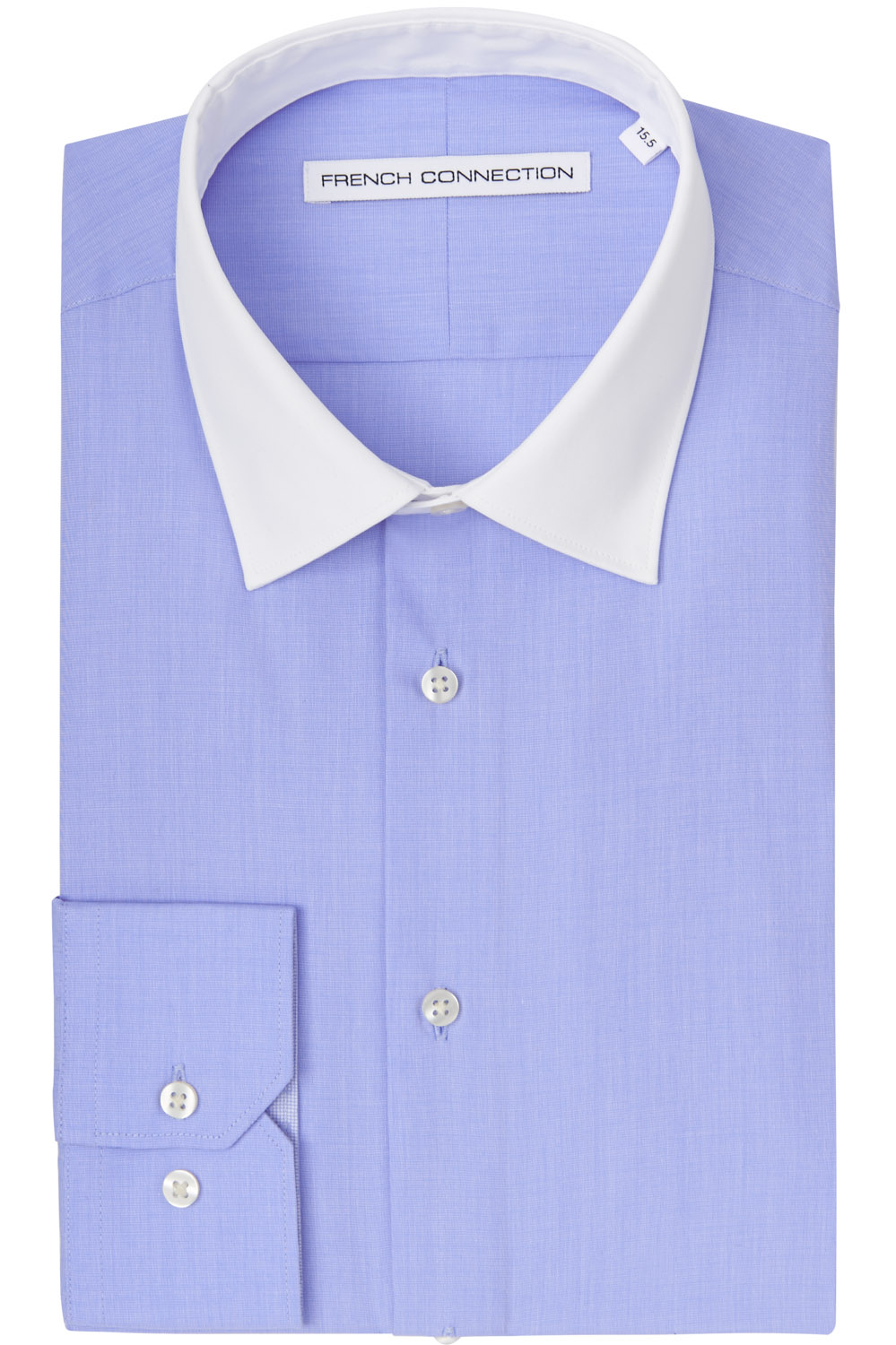 French connection slim fit sky blue single cuff white White french cuff shirt slim fit