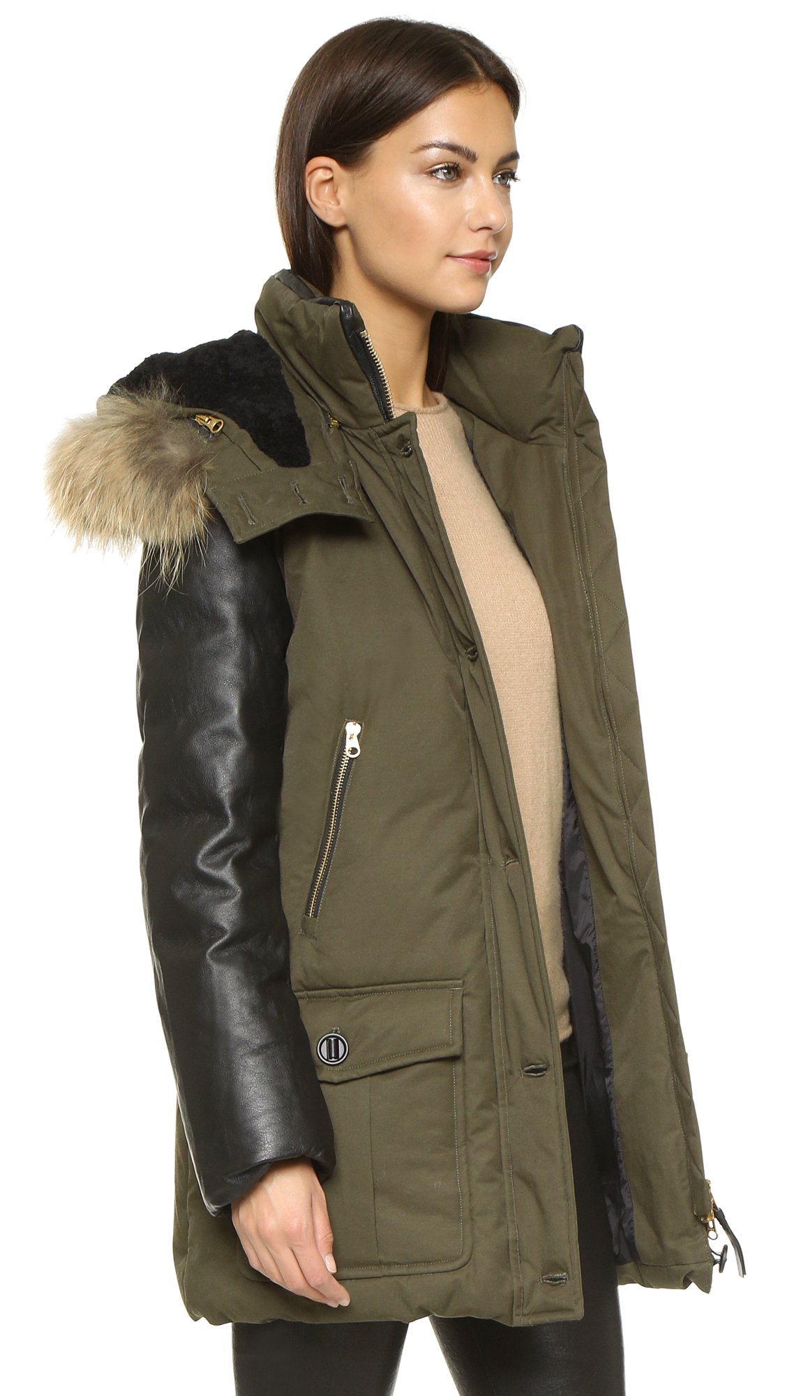 shearling sheep with Mackage Cynthia Coat Army on Ladies Shearling Coat Vienna as well Mules further Mackage Cynthia Coat Army together with Love From Australia Caramel Tibetan Cupid Sheepskin Boot P3209 also Petite Teddy Sherling Wool Coat Black.