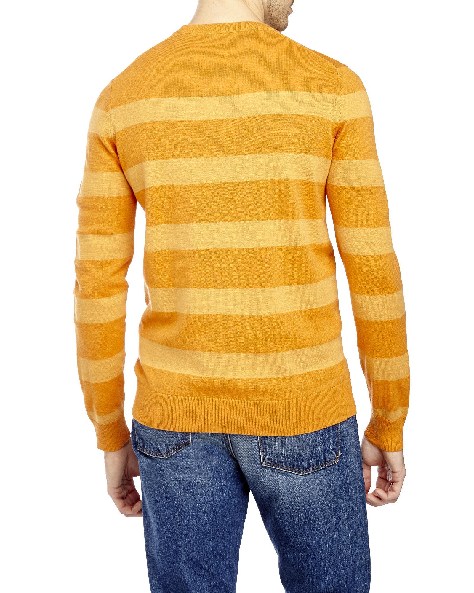 Ben sherman Striped Sweater in Orange for Men | Lyst