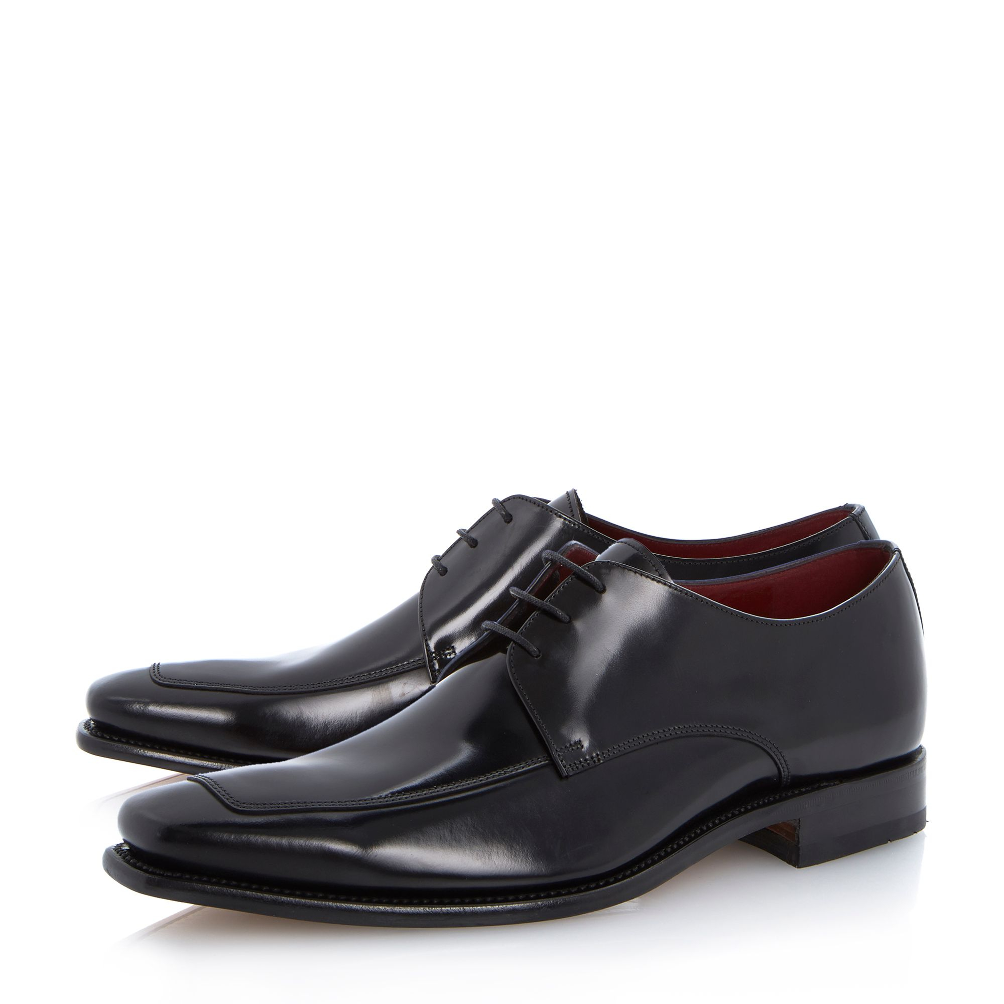Loake Black Apron Lace Up Shoes