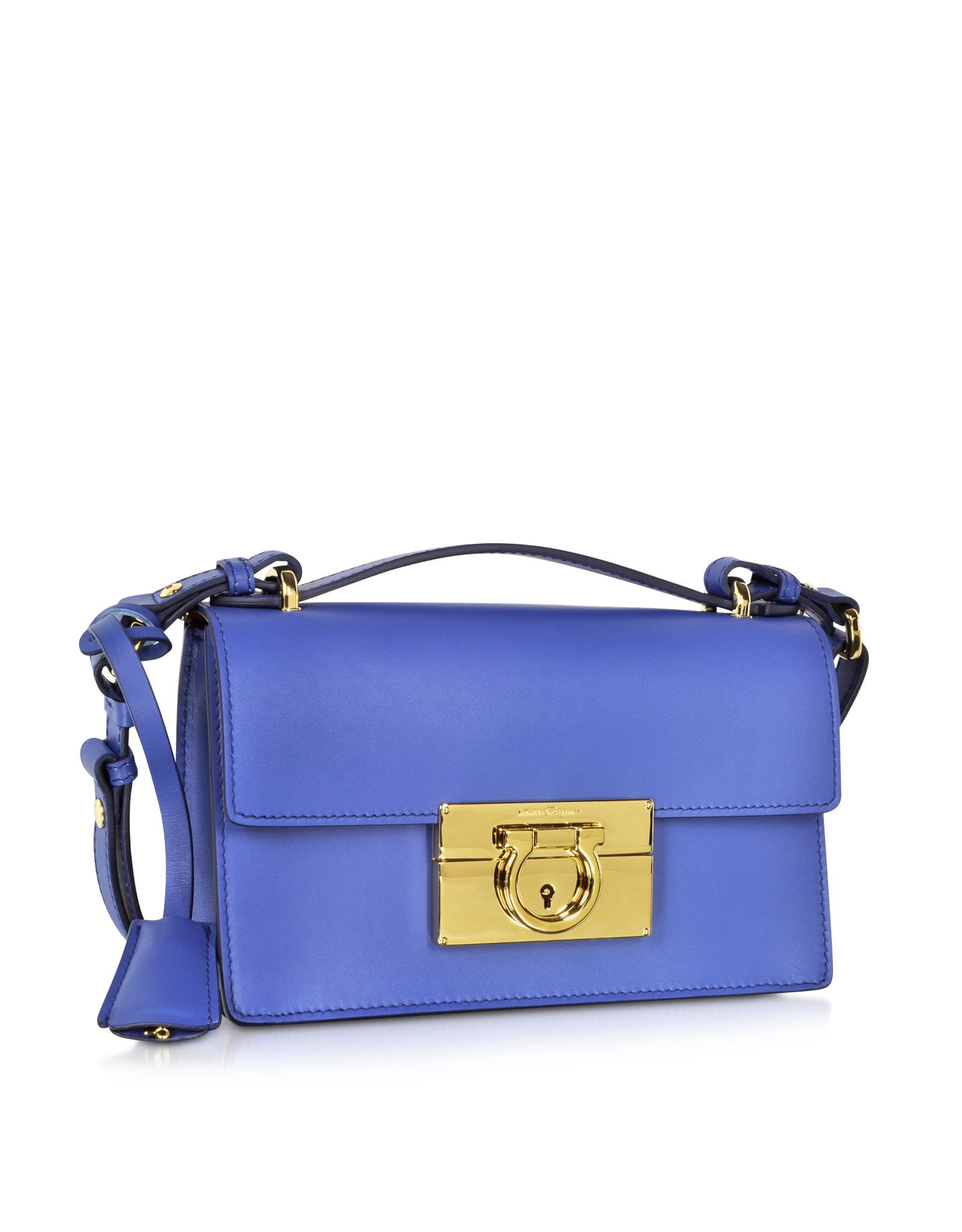 69b62bdf990c Lyst - Ferragamo Small Aileen New Iris Leather Shoulder Bag in Blue