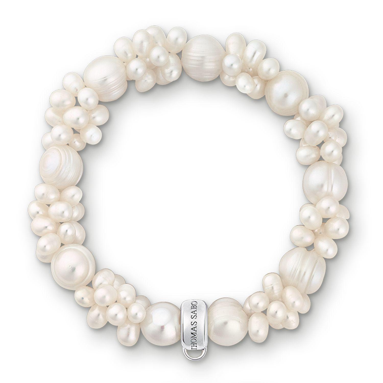 thomas sabo charm club white pearl bracelet in white lyst. Black Bedroom Furniture Sets. Home Design Ideas
