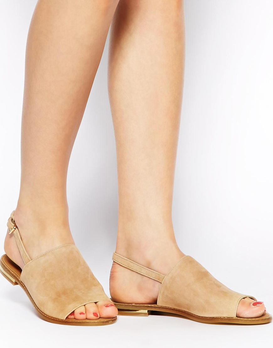 Lyst - ALDO Cassica Natural Flat Sandals in Natural