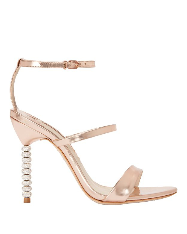 champagne glitter rosalind 100 leather sandals - Metallic Sophia Webster 8YCRaZQC
