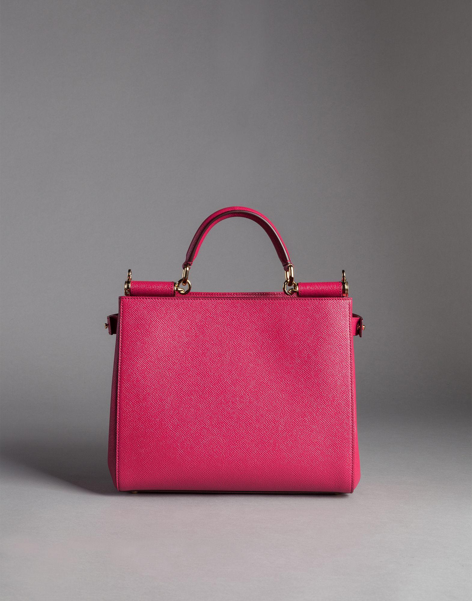 1674d04dd0d5 Dolce   Gabbana Dauphine Calfskin Sicily Shopping Bag in Pink - Lyst
