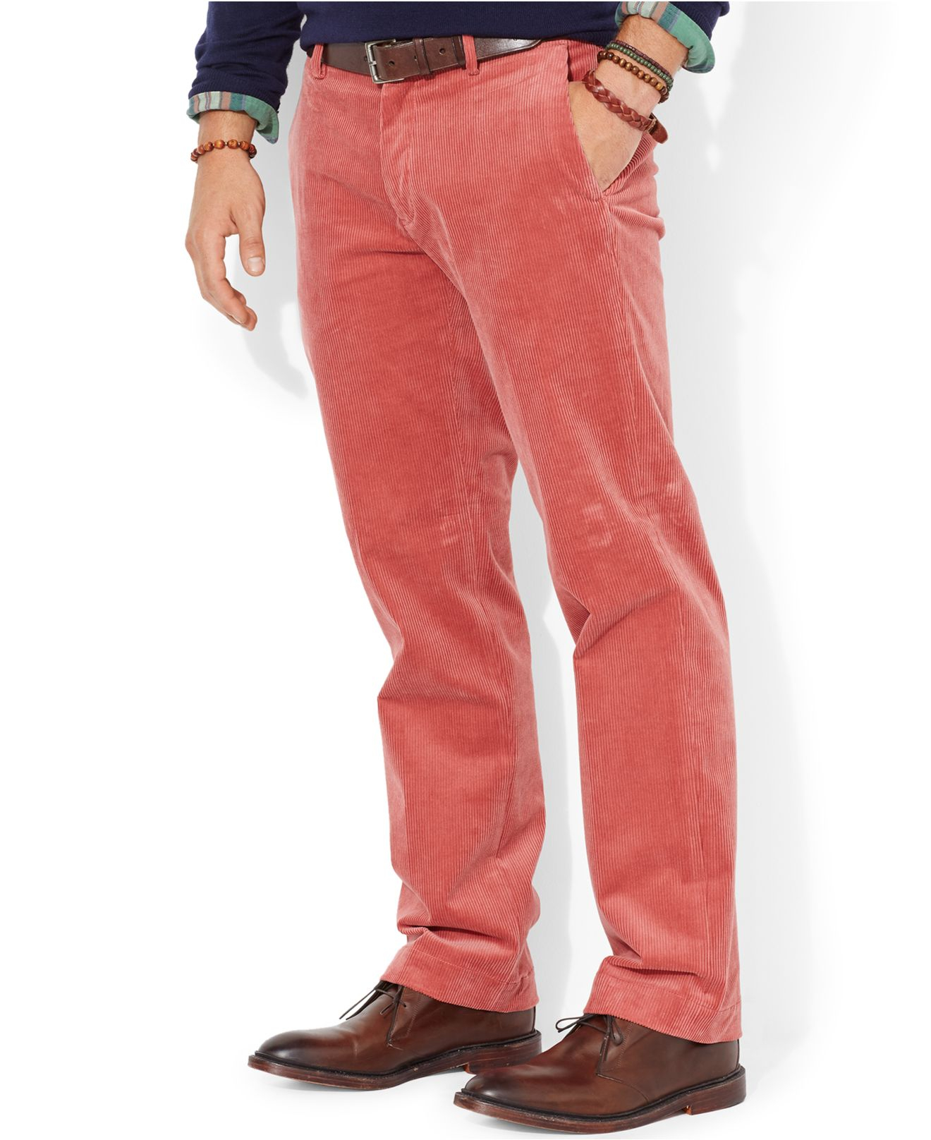 Polo ralph lauren Classic-Fit Newport Corduroy Pants in Pink for ...
