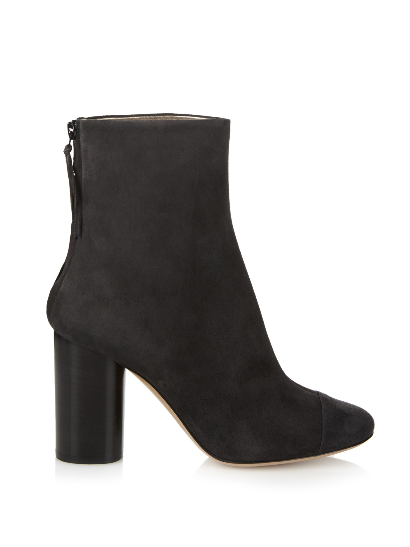 Isabel Marant Grover Suede in Ankle Stivali in Suede Nero Lyst 130c1f