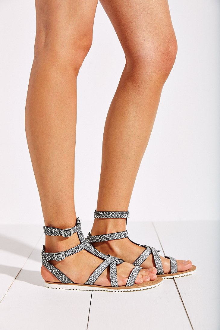 32bee93b98ce26 Circus by Sam Edelman Selma Jelly Gladiator Sandals in Gray - Lyst