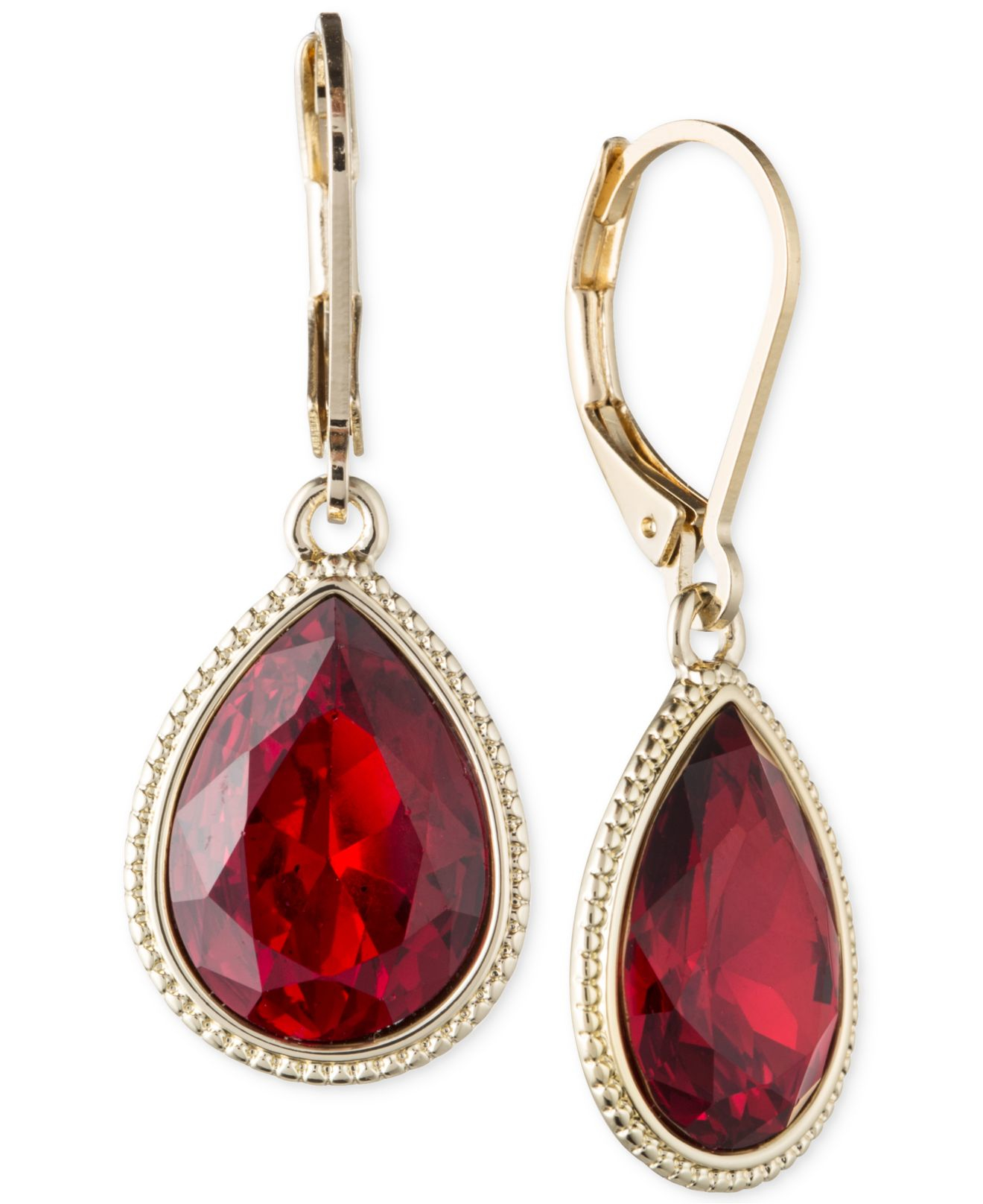 raspberry design dangle valltasy earrings ruby red gold filled the pink in