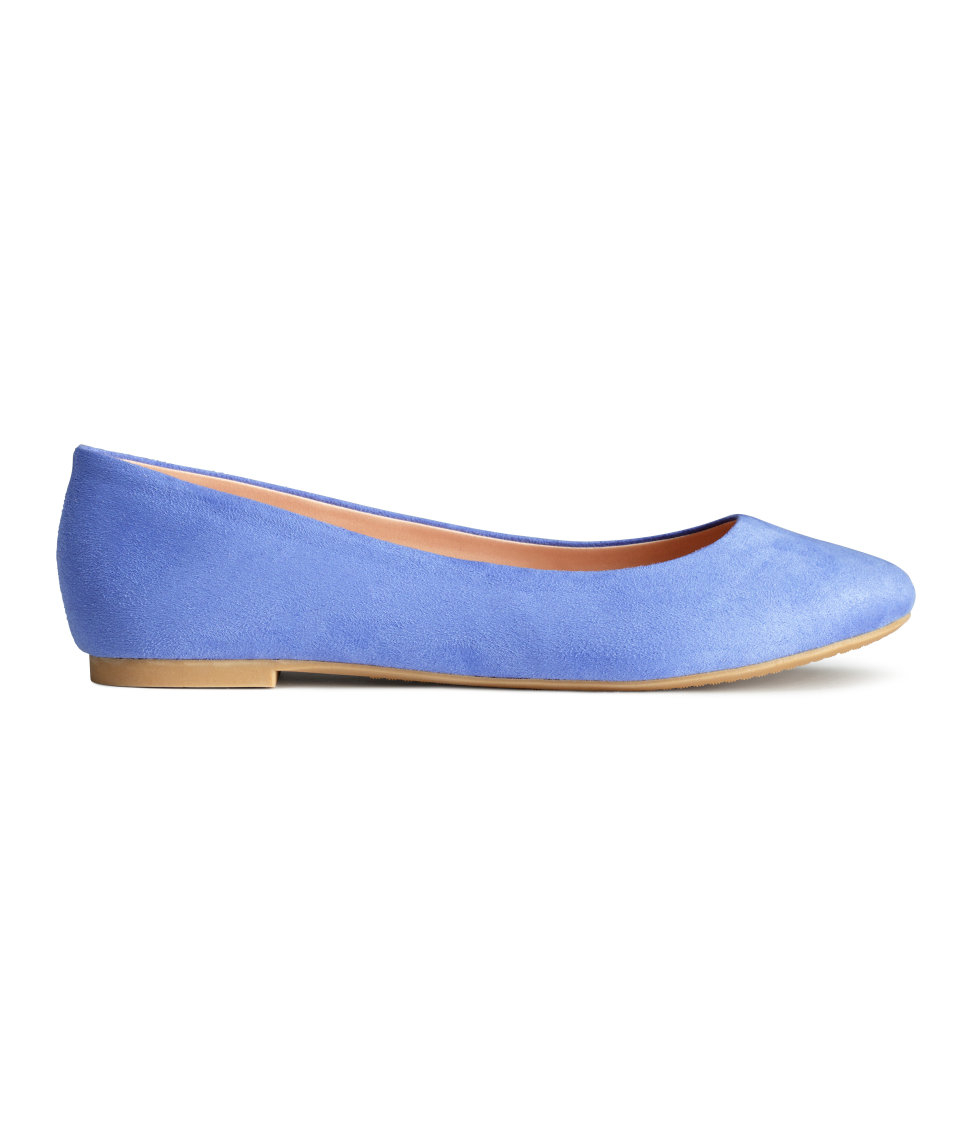 Blue Denim Flat Shoes From Clarks
