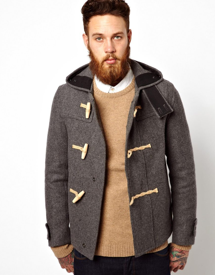 Gloverall Monty Duffle Coat in Gray for Men | Lyst