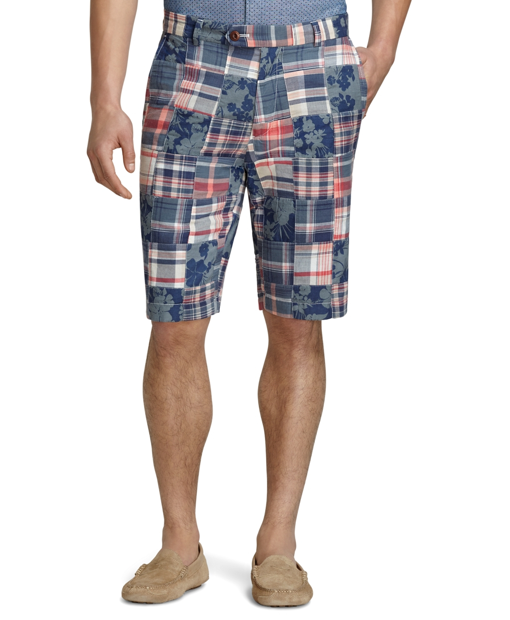 f2692fcacad78 Lyst - Brooks Brothers Oxford-Lined Madras Patchwork .