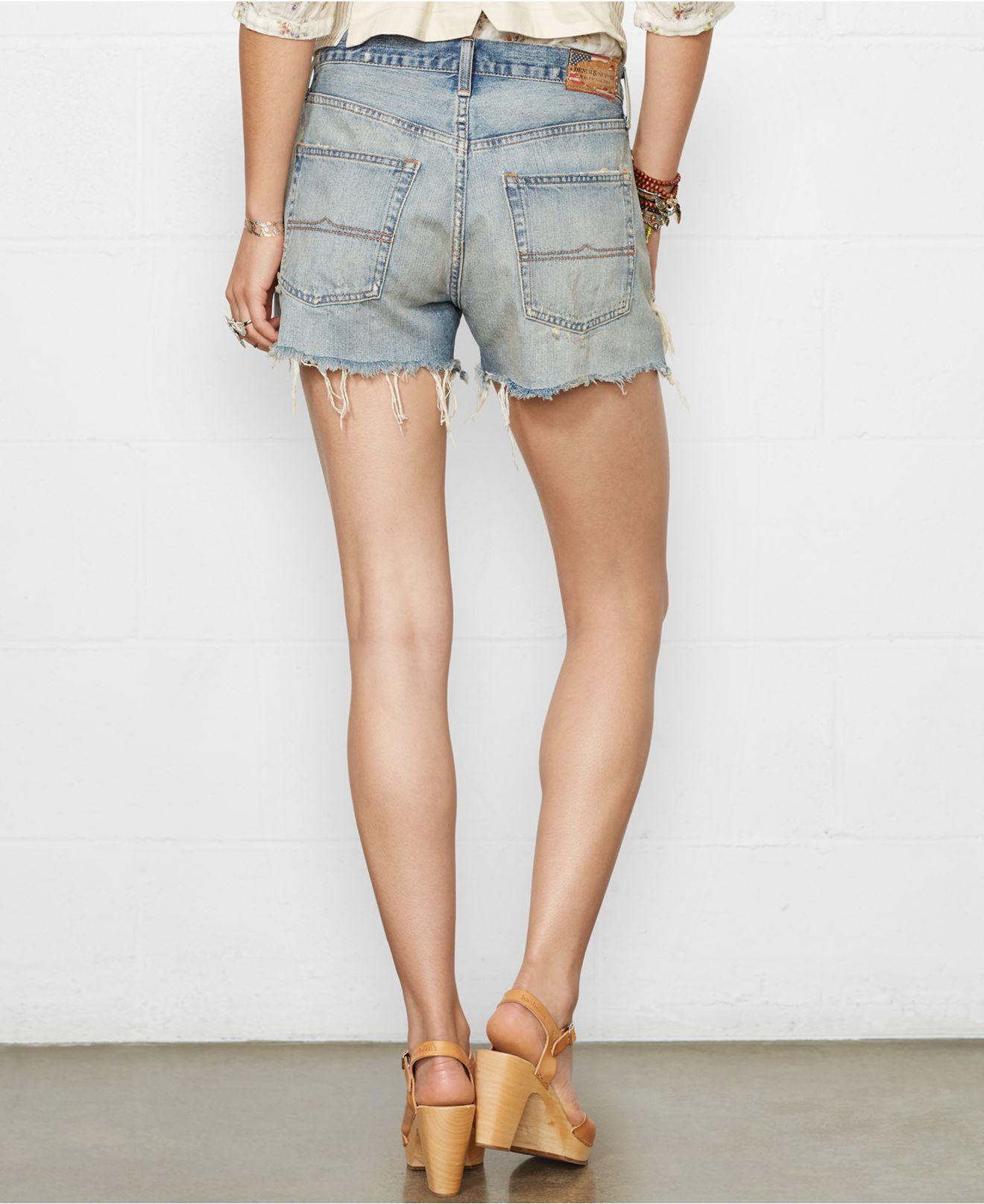 Distressed Denim Boyfriend Shorts - Hardon Clothes
