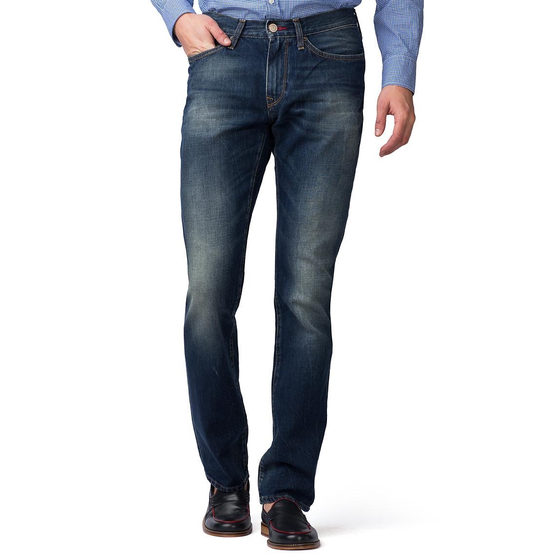 tommy hilfiger mercer regular fit denim pant in blue for. Black Bedroom Furniture Sets. Home Design Ideas