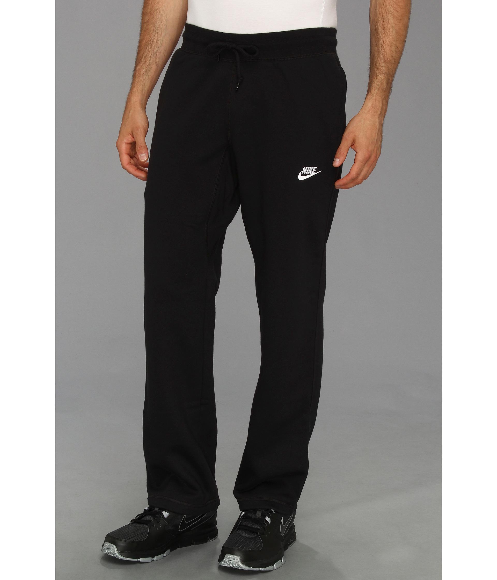 6d68fa4bc6a7 Lyst - Nike Ace Open-hem Fleece Pants in Black for Men