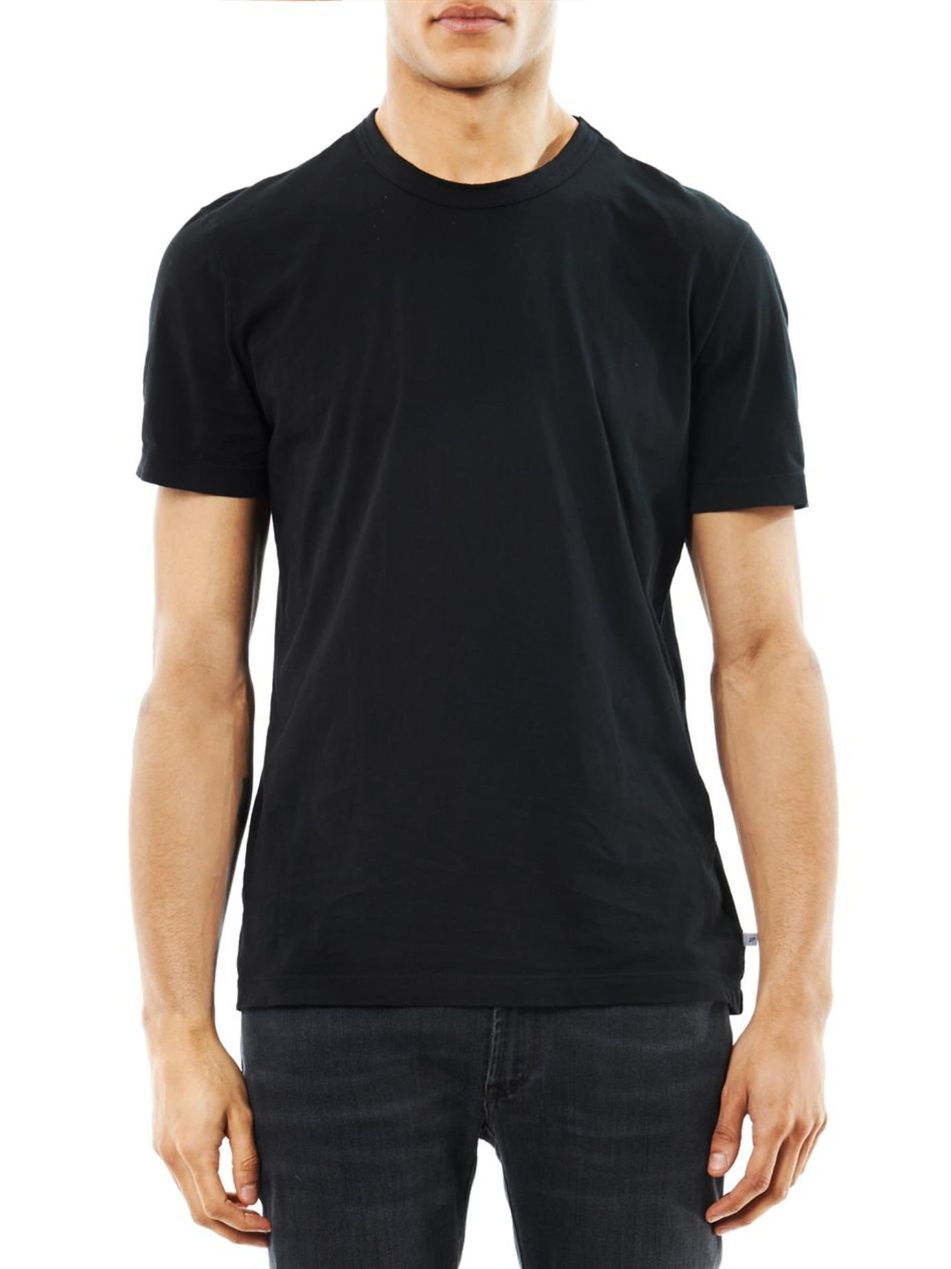 James perse Crew-Neck T-Shirt in Black for Men | Lyst