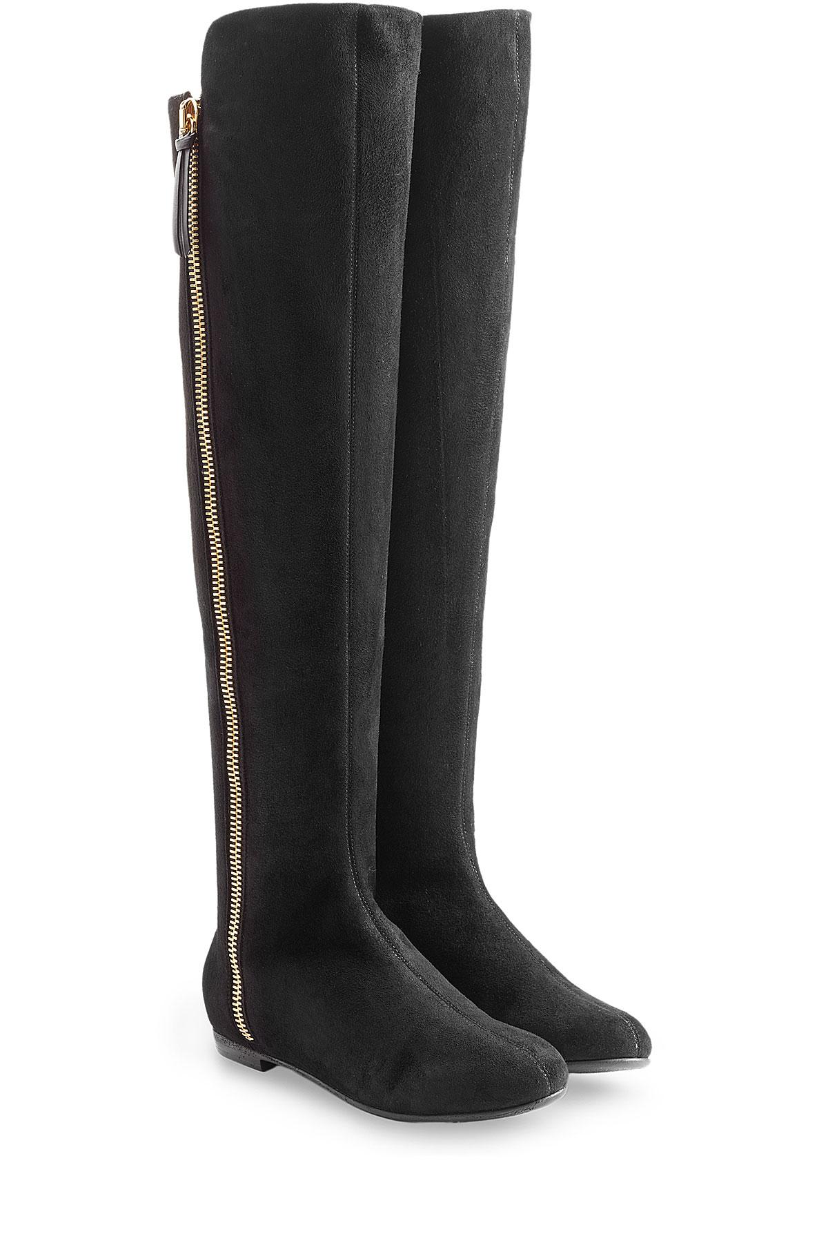 da41f1a0f30 Lyst - Giuseppe Zanotti Over-the-knee Suede Boots - Black in Black