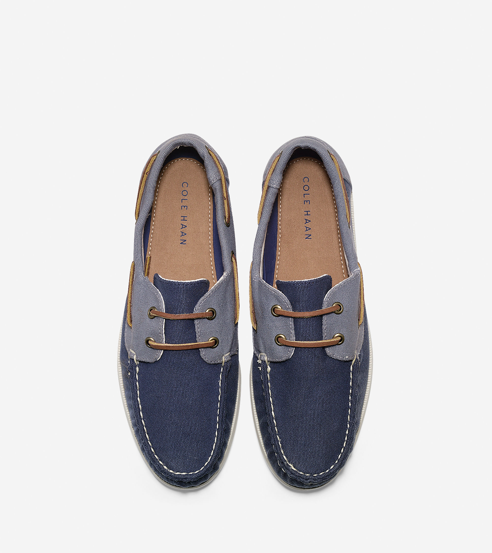 Cole Haan Dominick Boat Shoe In Blue For Men Lyst