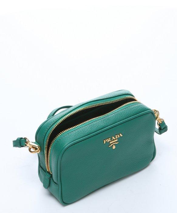Prada Green Leather Mini Convertible Crossbody Bag in Green | Lyst