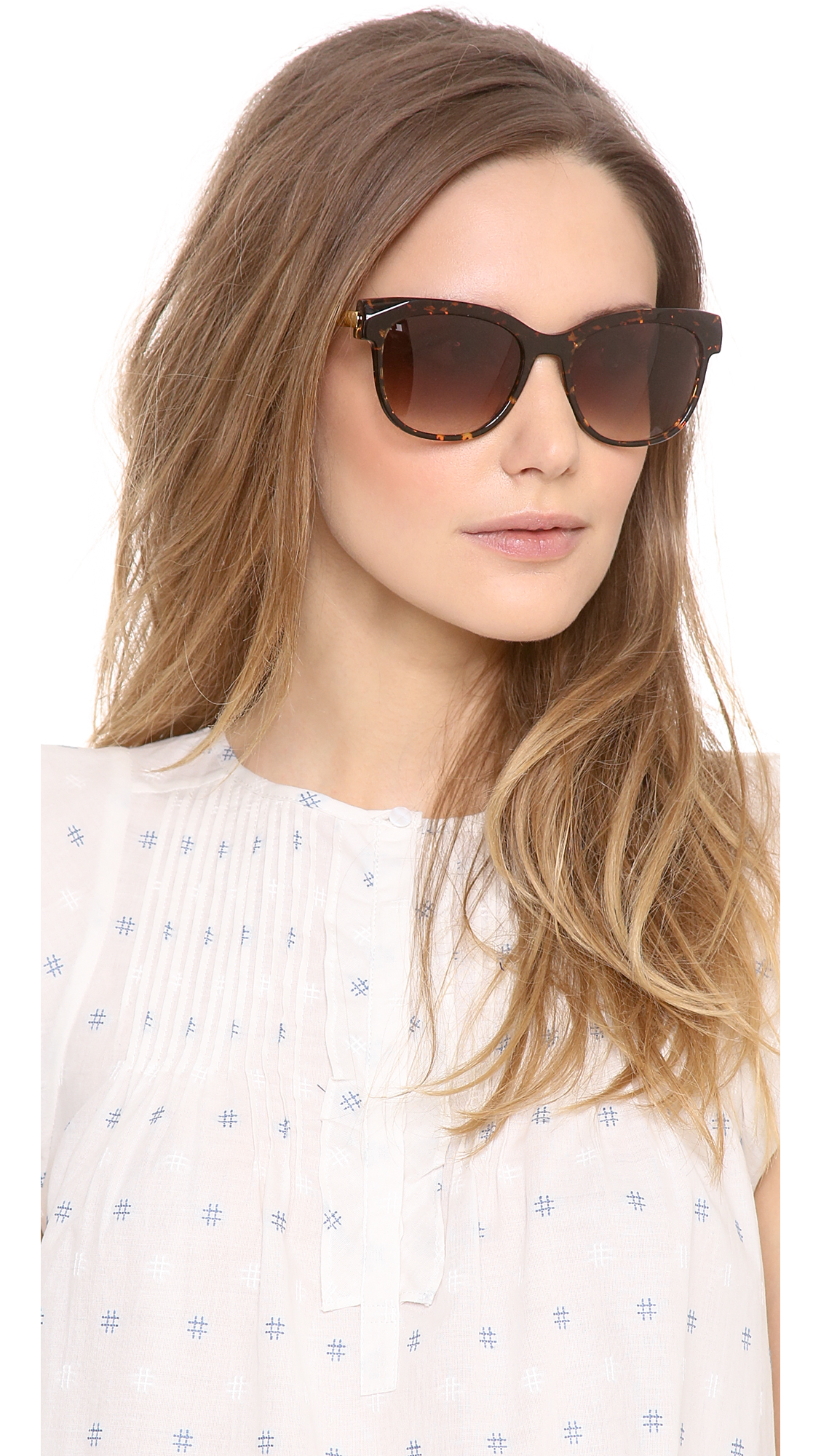 a2b57e3a51 Lyst - Thierry Lasry Lippy Sunglasses in Brown
