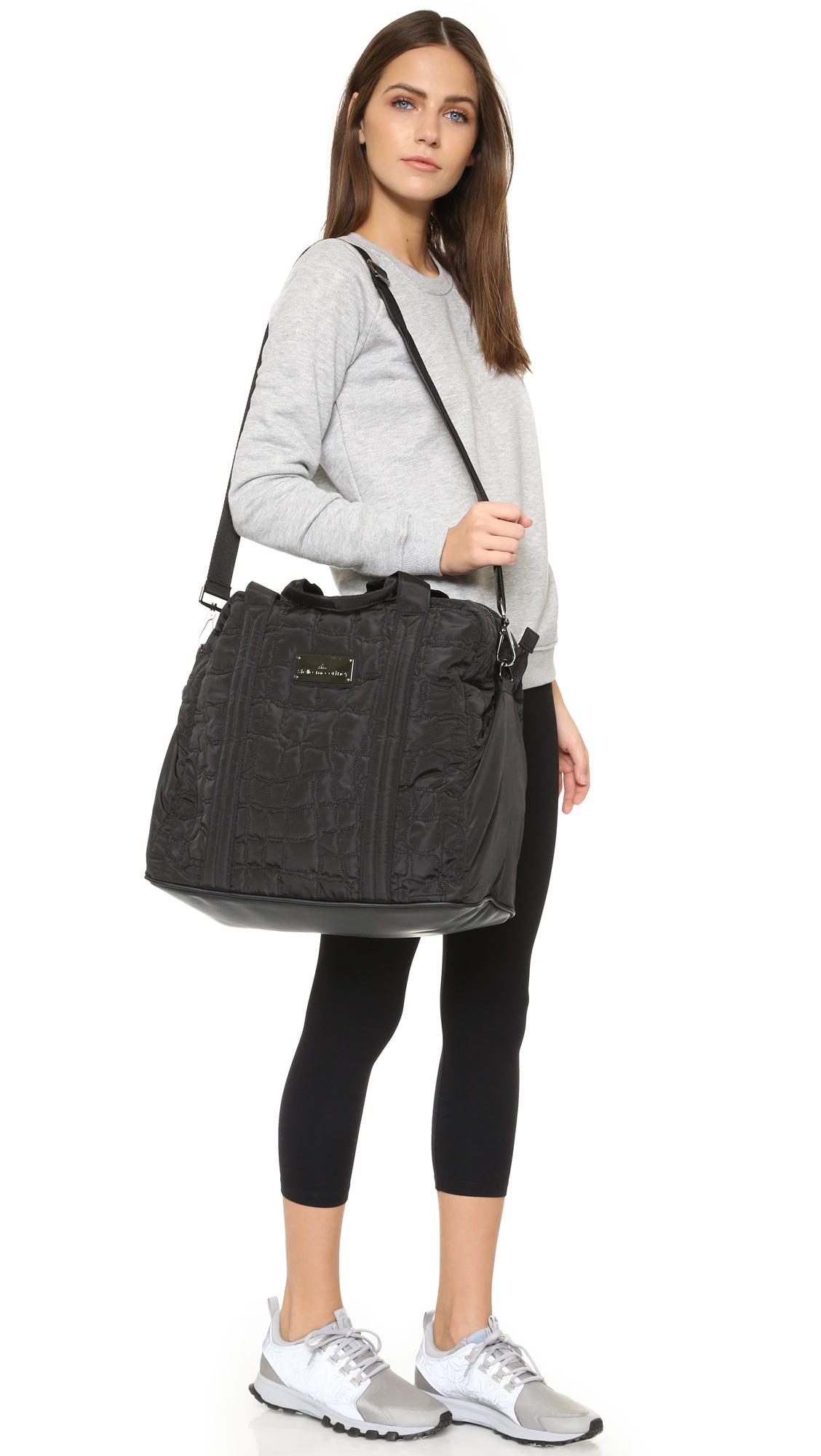 adidas by stella mccartney essentials bag in black lyst. Black Bedroom Furniture Sets. Home Design Ideas