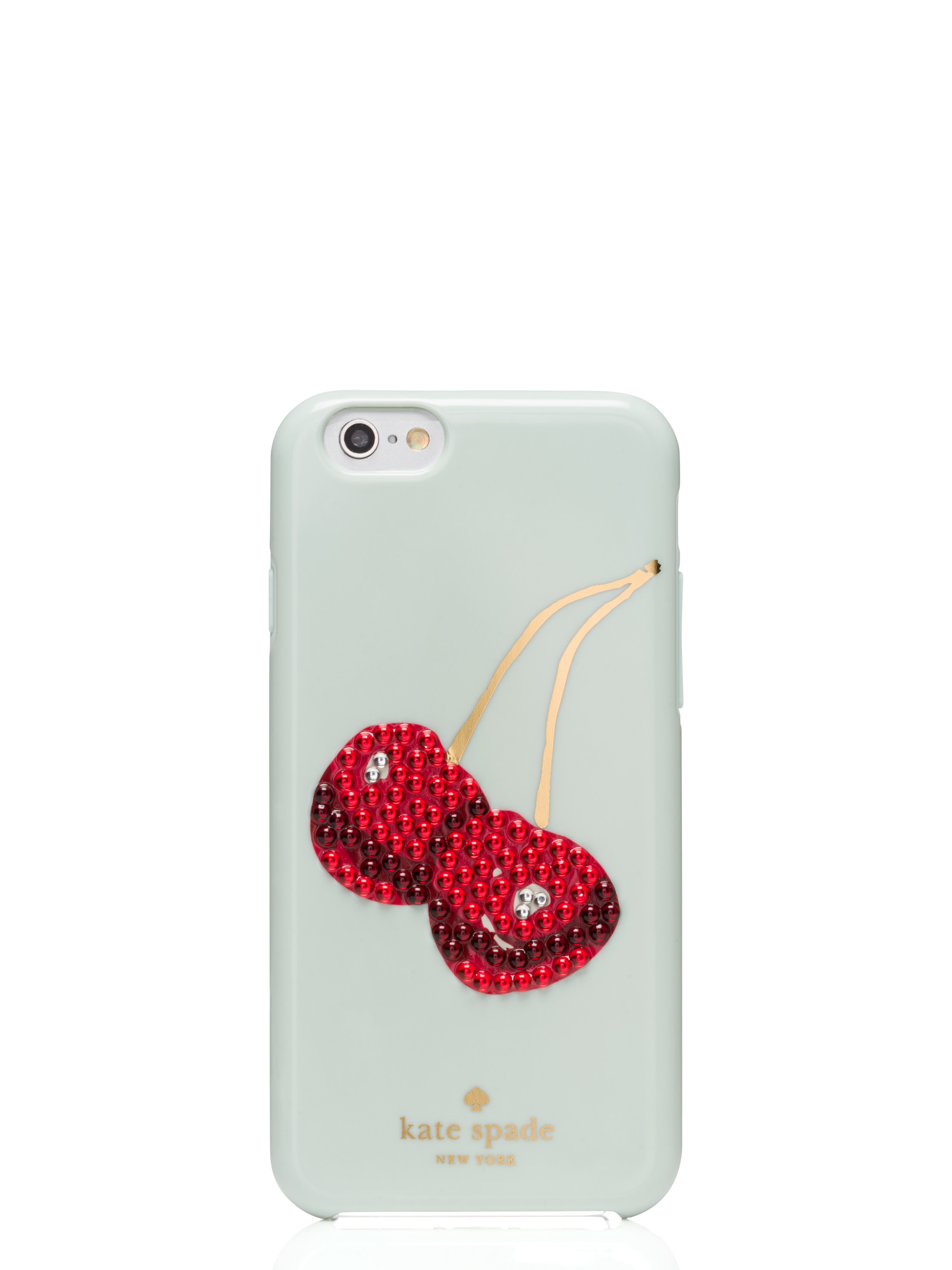 kate spade iphone cases lyst kate spade new york embellished cherry iphone 6 15595