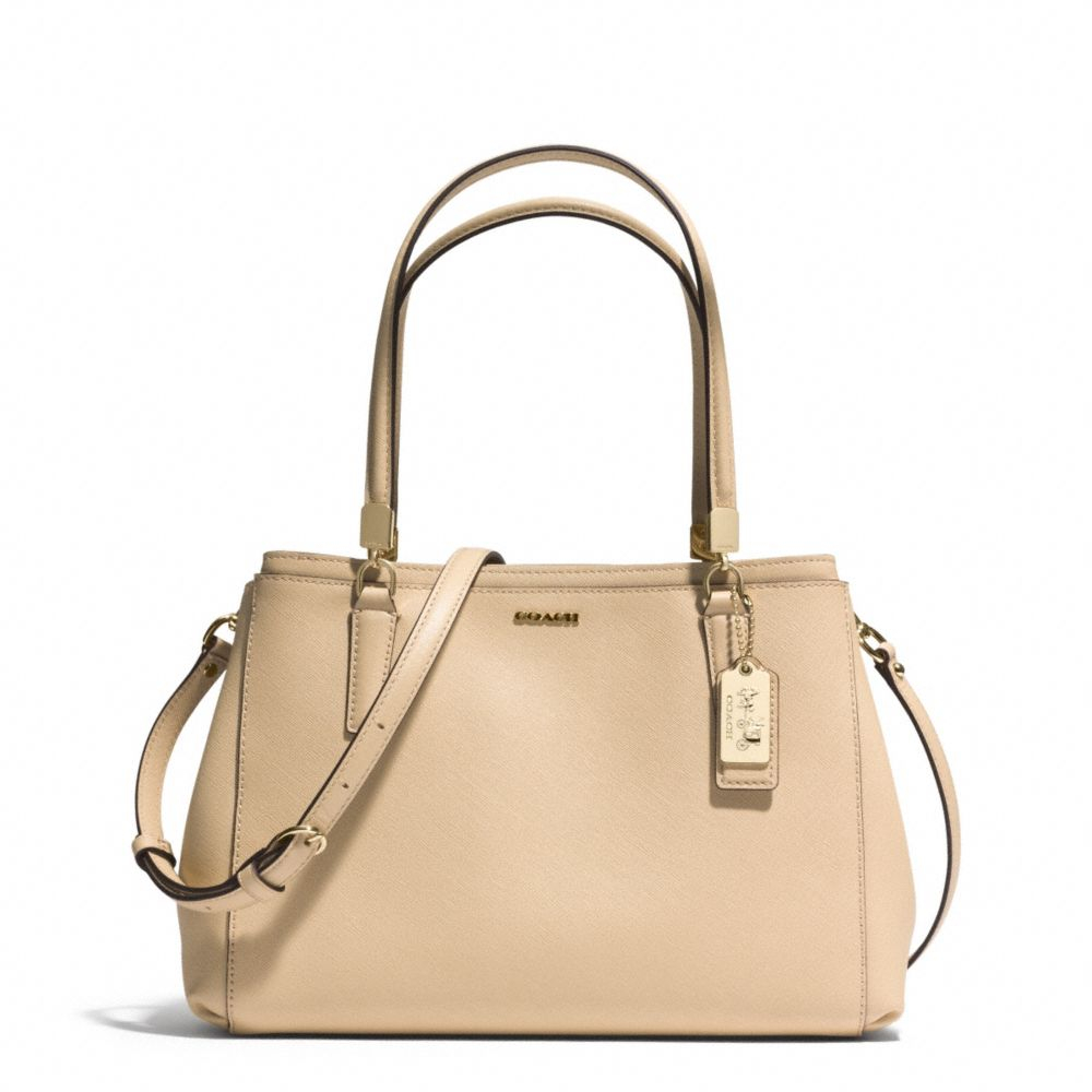 Lyst Coach Madison Small Christie Carryall In Saffiano Leather Mini Signature Crossbody Gallery