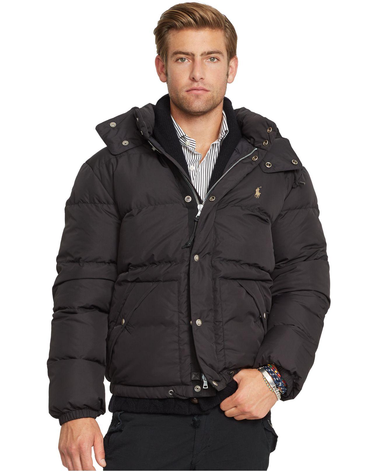 Polo Ralph Lauren Black Elmwood Down Jacket for men