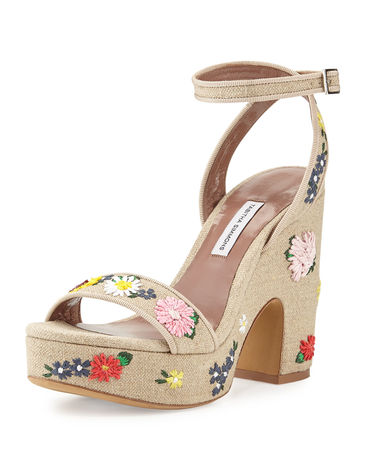 Tabitha Simmons Embroidered Multistrap Sandals buy cheap 100% original buy cheap explore cheap sale Cheapest sale with mastercard cqnTpMPnC