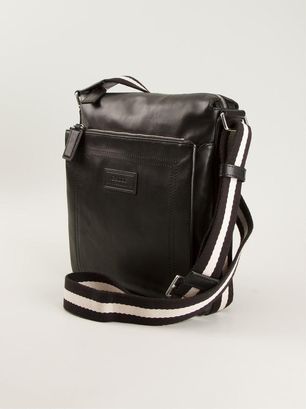 Lyst Bally Tuston Messenger Bag In Black For Men