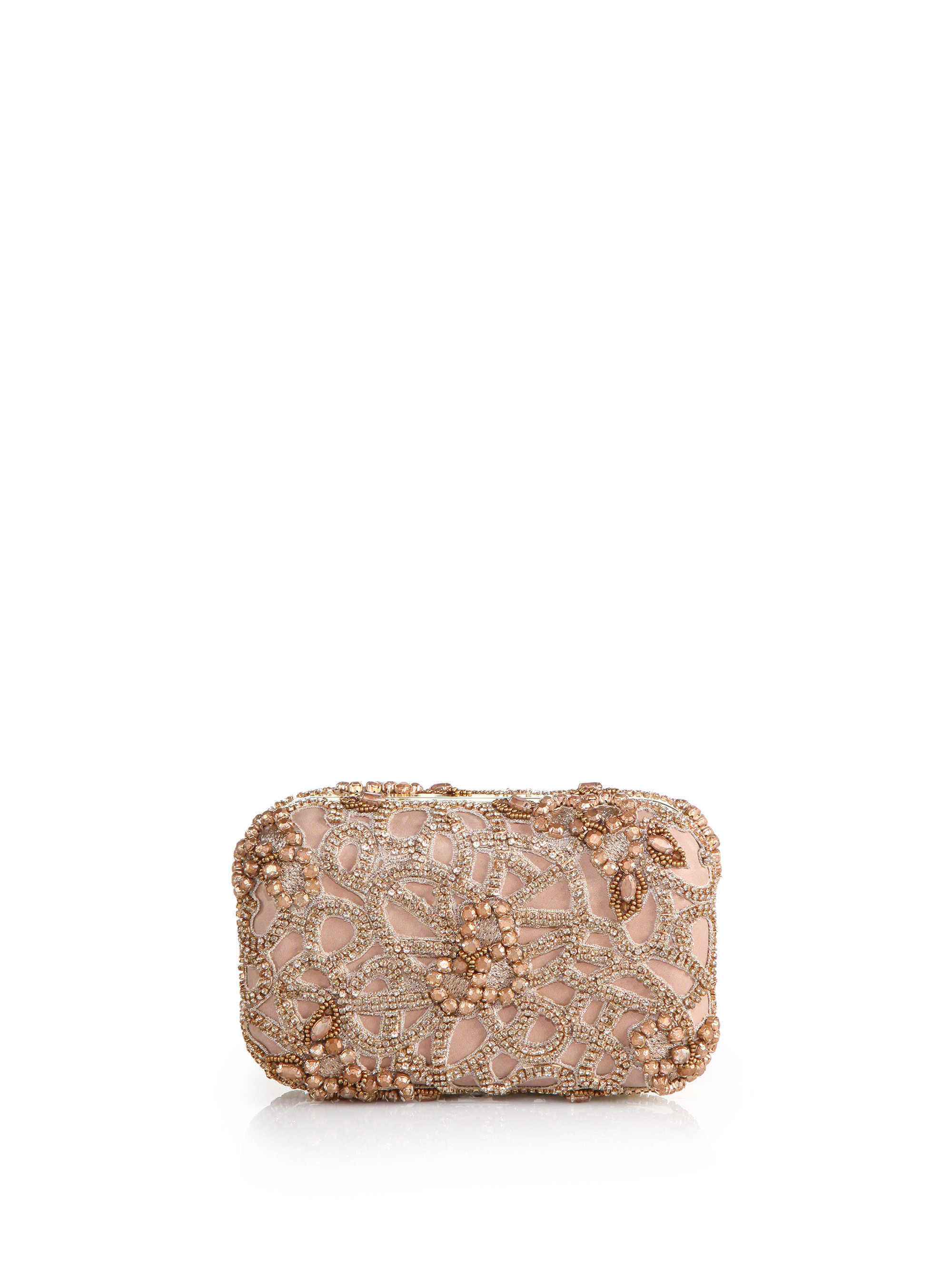 alice olivia embellished box clutch in pink lyst