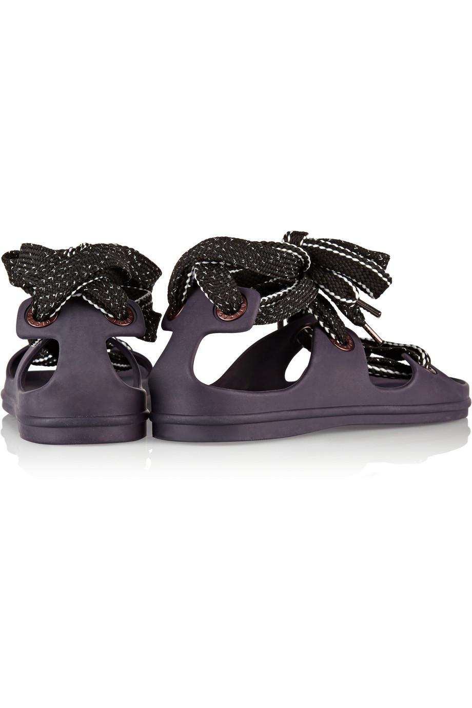 5d5359b7fca7 Lyst - Acne Studios Milo Lace-Up Rubber Sandals in Purple