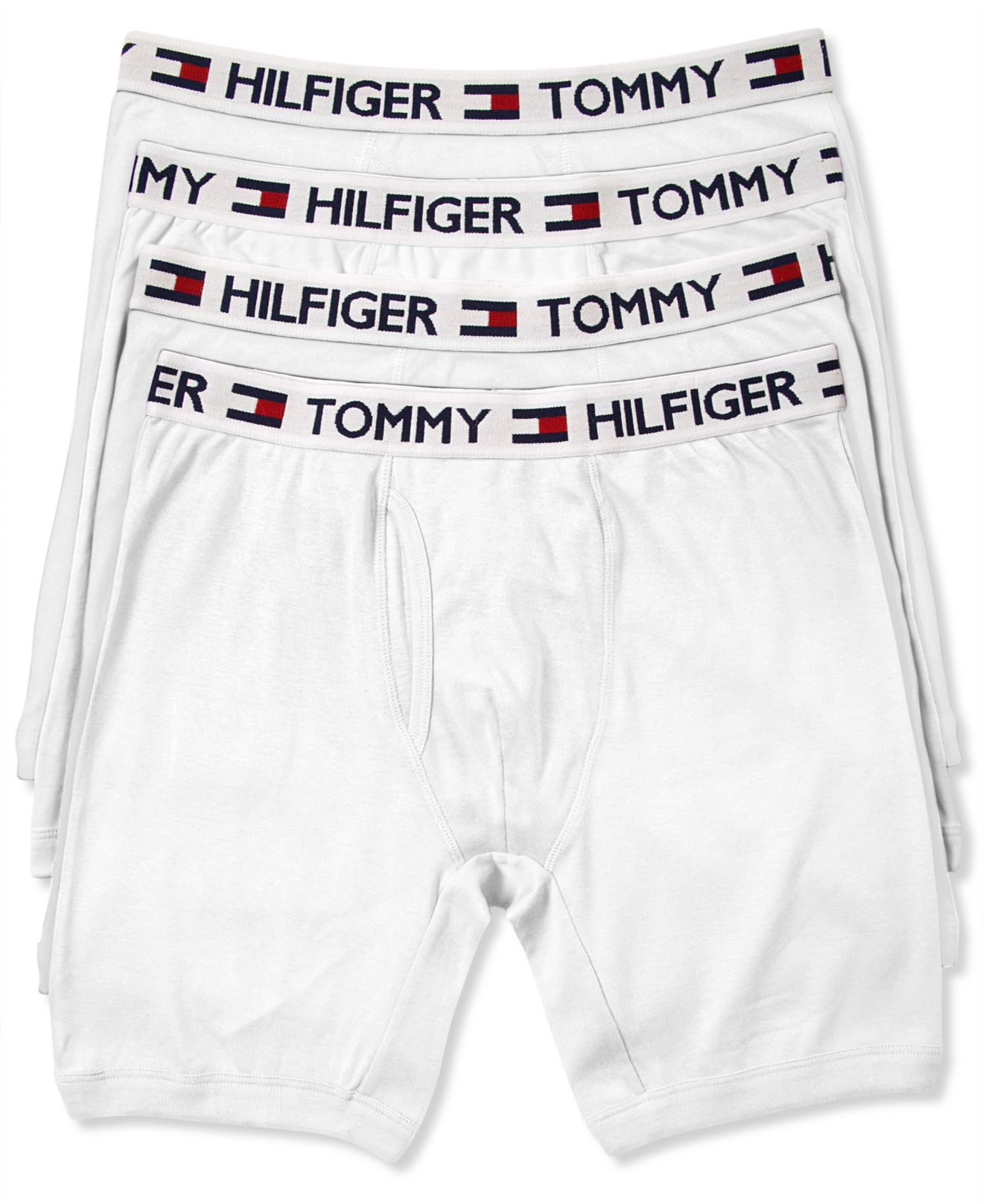 tommy hilfiger cotton boxer brief 4 pack in white for men lyst. Black Bedroom Furniture Sets. Home Design Ideas